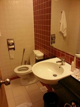 First World Hotel: old bathroom.. the sink is leaking